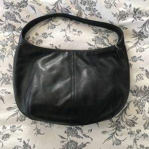 Coach black leather hobo handbag